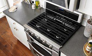 Whirlpool® gas range in kitchen