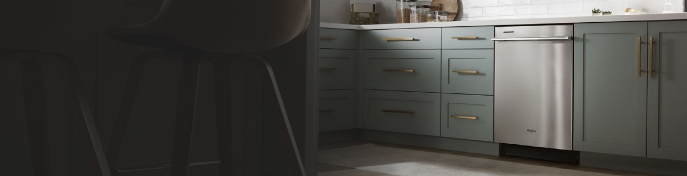 Whirlpool® Dishwasher featured in a kitchen