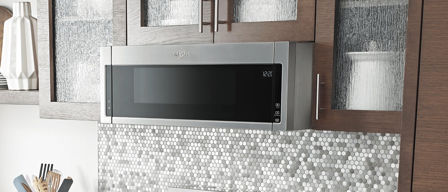 Low profile microwave hood combination fit in the same place as a hood