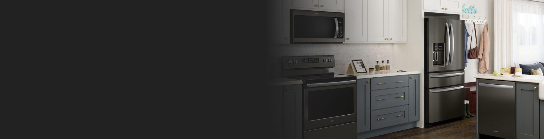 Kitchen showcasing Whirlpool® kitchen appliances.
