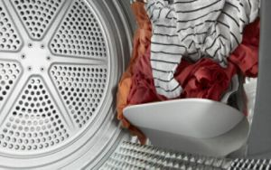 Clothes tumbling in a Whirlpool® dryer