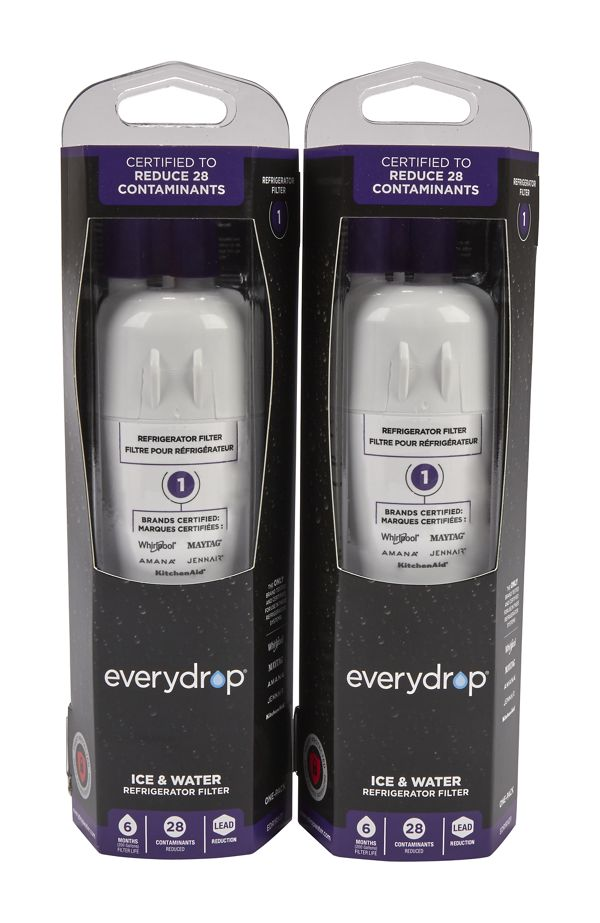 Image of EveryDrop® Ice & Water Refrigerator Filter 1 - 2 Pack