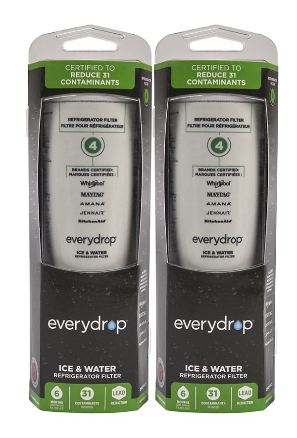 Image of EveryDrop® Ice & Water Refrigerator Filter 4 - 2 Pack