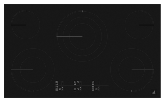 "Oblivian Glass 36"" Electric Cooktop with Glass-Touch Electronic Controls"