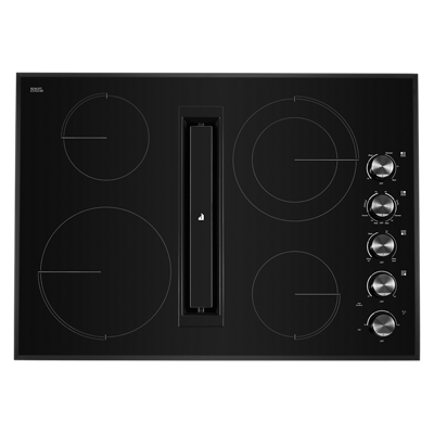 "Black Floating Glass 30"" JX3™ Electric Downdraft Cooktop"
