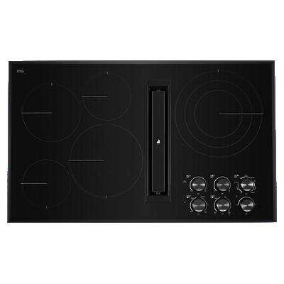 "Black Floating Glass 36"" JX3™ Electric Downdraft Cooktop"