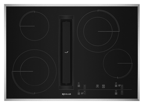"Euro-Style 30"" JX3™ Electric Downdraft Cooktop with Glass-Touch Electronic Controls"