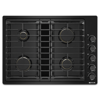 "Black 30"" JX3™ Gas Downdraft Cooktop"