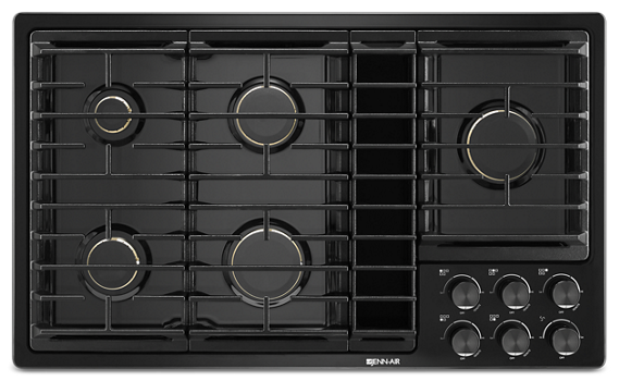 "Black 36""JX3™ Gas Downdraft Cooktop"