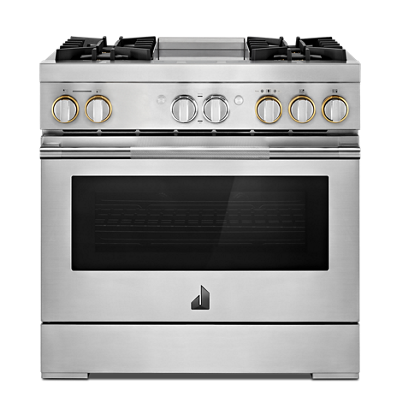"RISE™ 36"" Dual-Fuel Professional Range with Chrome-Infused Griddle"