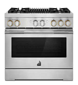 Rise 36 Dual Fuel Professional Range With Gas Grill