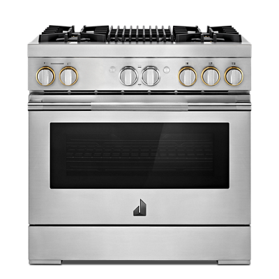 "RISE™ 36"" Dual-Fuel Professional Range with Gas Grill"