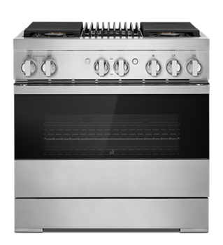 "NOIR™ 36"" Dual-Fuel Professional Range with Gas Grill"