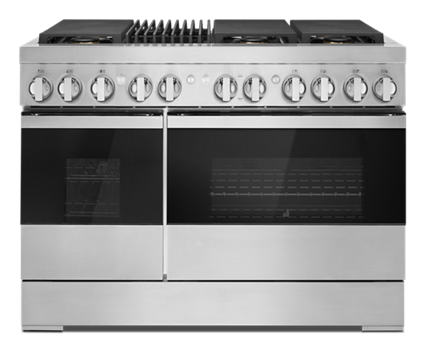 """NOIR™ 48"""" Dual-Fuel Professional Range with Gas Grill"""