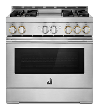 "36"" RISE™ Gas Professional-Style Range with Chrome-Infused Griddle"