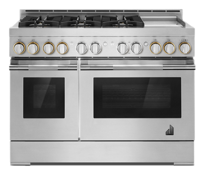 "48"" RISE™ Gas Professional-Style Range with Chrome-Infused Griddle"