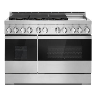 "48"" NOIR™ Gas Professional-Style Range with Chrome-Infused Griddle"