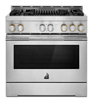 "RISE™ 36"" Gas Professional-Style Range with Grill"