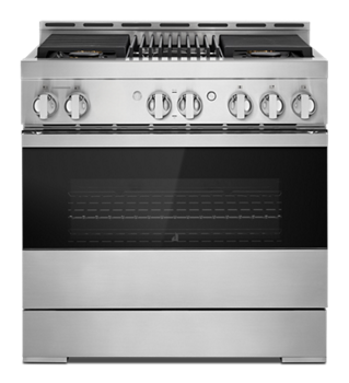 "NOIR™ 36"" Gas Professional-Style Range with Grill"