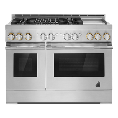 "RISE™ 48"" Gas Professional-Style Range with Chrome-Infused Griddle and Grill"