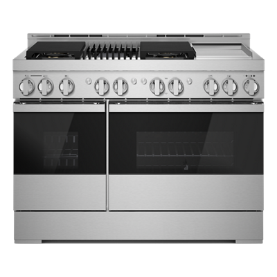 "NOIR™ 48"" Gas Professional-Style Range with Chrome-Infused Griddle and Grill"