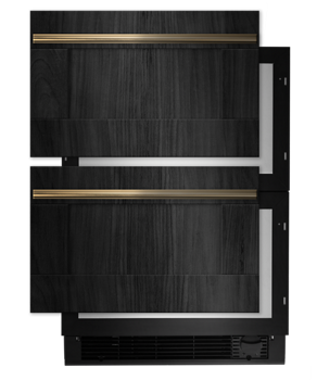 "Panel-Ready 24"" Double Drawer Refrigerator/Freezer"