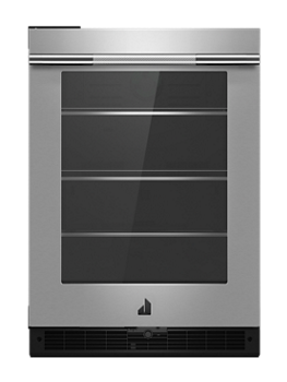 "RISE™ 24""  Under Counter Glass Door Refrigerator, Left Swing"