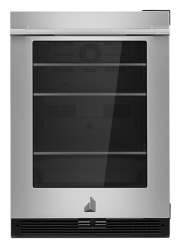 "RISE™ 24""  Under Counter Glass Door Refrigerator, Right Swing"