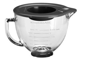 4.7 L Tilt-Head Glass Bowl with Measurement Markings & Lid