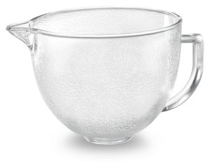 Hammered Look Glass Bowl for 4.8L Tilt-Head Stand Mixer