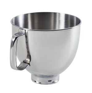 4.8 L Tilt-Head Polished Stainless Steel Bowl with Comfortable Handle