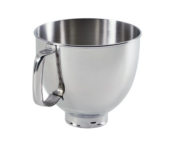 5-Qt. Tilt-Head Polished Stainless Steel Bowl with Comfortable Handle
