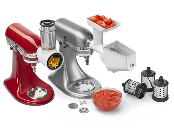 Slicer/Shredder + Grinder/Strainer Attachment Pack