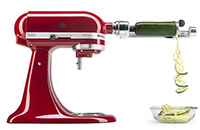Stand Mixer Spiralizer with Peel, Core and Slice (4 Blades) Attachment