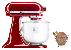 white ice cream maker attachment for 4 8 l stand mixer kica0wh rh kitchenaid com KitchenAid KSM90 Accessories KitchenAid KSM90 Parts