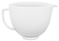 5 Quart White Chocolate Ceramic Bowl