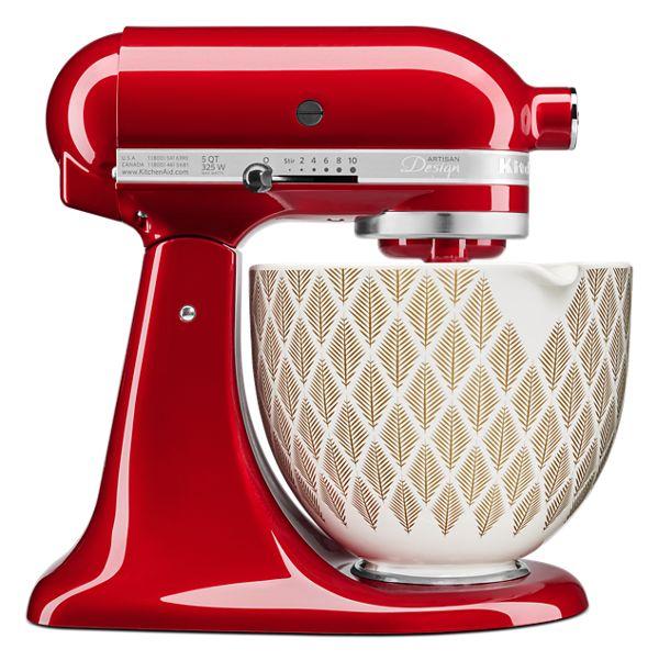 KitchenAid® 5 Quart Gold Conifer Ceramic Bowl