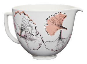 5 Quart Gingko Leaf Ceramic Bowl