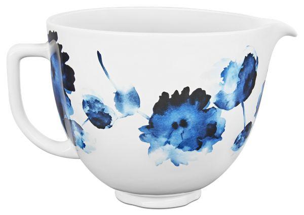 KitchenAid® 5 Quart Ink Watercolor Patterned Ceramic Bowl
