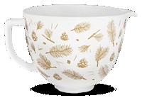 5 Quart Pine and Berries Ceramic Bowl