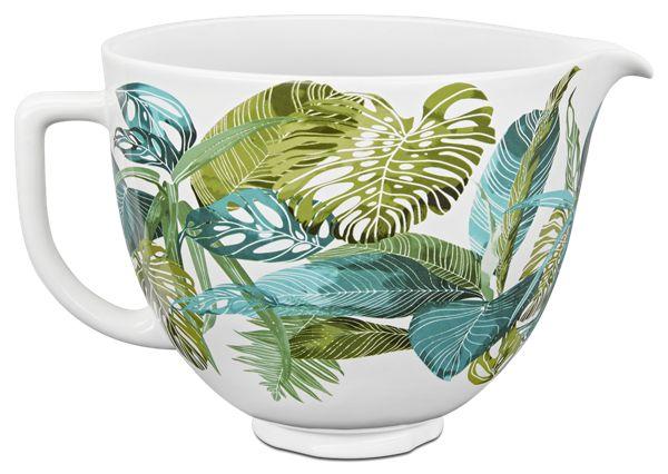 KitchenAid® 5 Quart Tropical Floral Patterned Ceramic Bowl