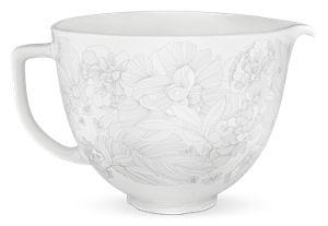 5 Quart Whispering Floral Ceramic Bowl