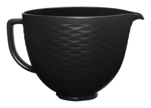 5 Quart Black on Black Textured Ceramic Bowl