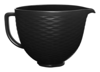 5 Quart Black on Black Textured Ceramic Bowl