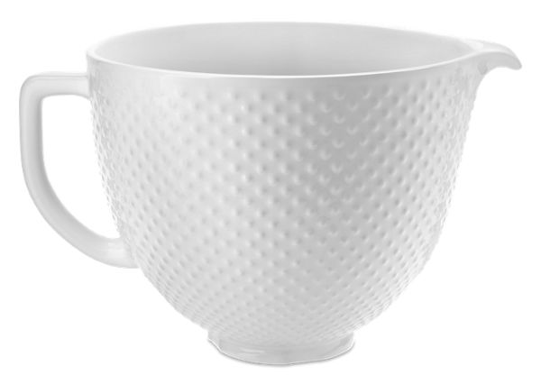 KitchenAid® 5 Quart Hobnail Ceramic Bowl