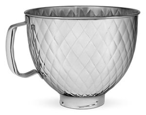 5 Quart Tilt Head Quilted Stainless Steel Bowl