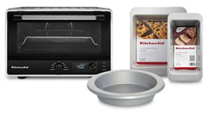 Digital Countertop Oven with Air Fry and 3 Piece Bakeware Set Bundle
