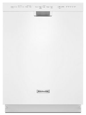 Blanc Lave Vaisselle Kitchenaid 24 Po 6 Programmes 5 Options