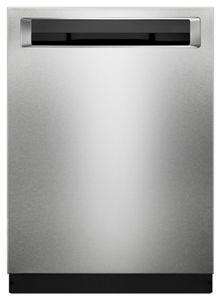 46 DBA Dishwasher with Bottle Wash Option and PrintShield™ Finish, Pocket Handle
