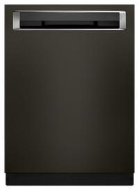 39 Dba Dishwasher With Fan Enabled Prodry System And Printshield Finish Pocket Black Stainless Steel